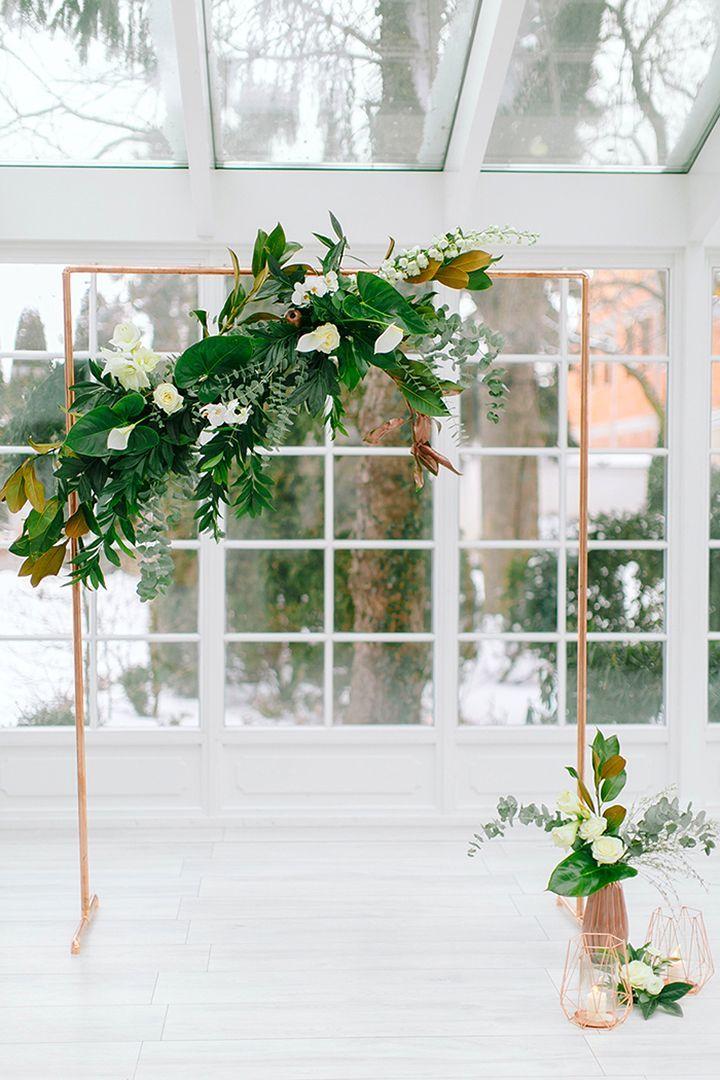 wedding ceremony setups - photo by Elena Matiash Photography http://ruffledblog.com/fresh-copper-and-marble-wedding-inspiration