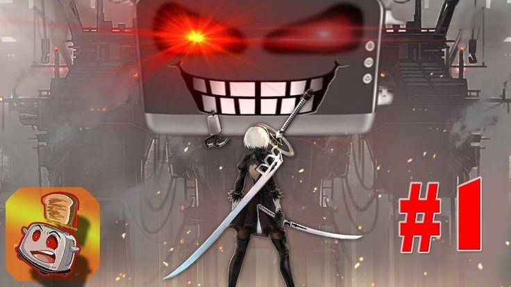 NieR: Automata (1) - GIGANTIC ROBOT BATTLES!!