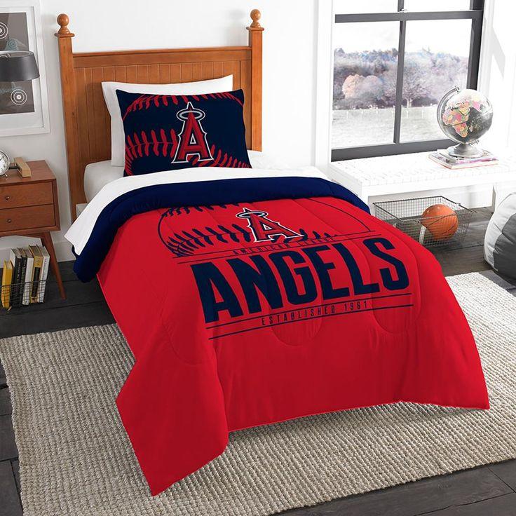 "Los Angeles Angels Mlb Twin Comforter Set (grand Slam Series) (64"" X 86"")"