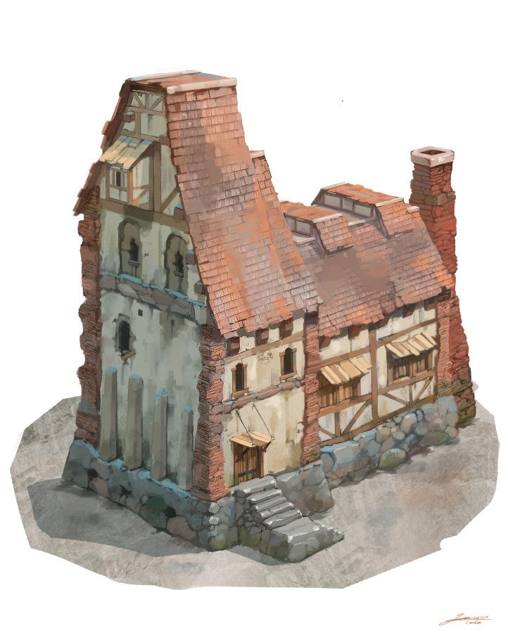 ArtStation - Stone village-house2, Sungwhooan Lee