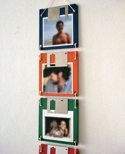 Find a use for those old floppy discs!