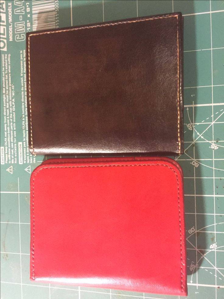 I Am M - Red and Chocolate Thalacyde card wallet