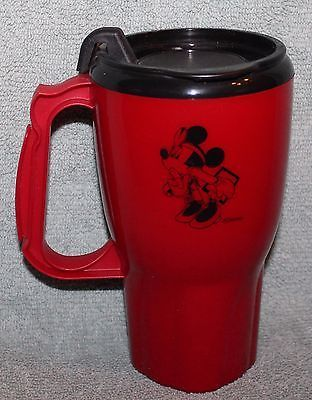 DISNEY CAST MEMBER NURSE MINNIE MOUSE 16oz PLASTIC MUG CUP WITH LID