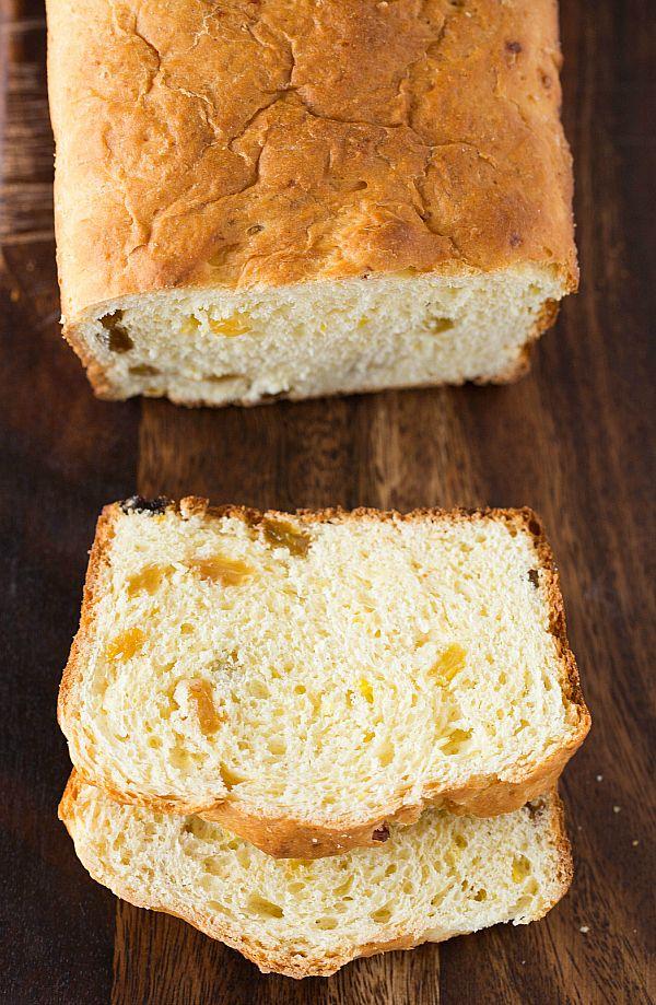 Paska Bread (Ukrainian or Polish Bread)_A traditional Eastern European bread, Paska is a sweet, brioche-like dough that's studded with golden raisins.