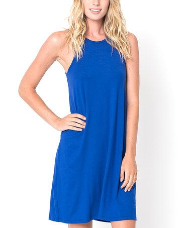 Look what I found on #zulily! Royal Blue Twist-Back Shift Dress #zulilyfinds