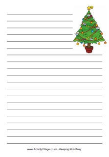 Christmas tree writing paper. Tons of free christmas paper