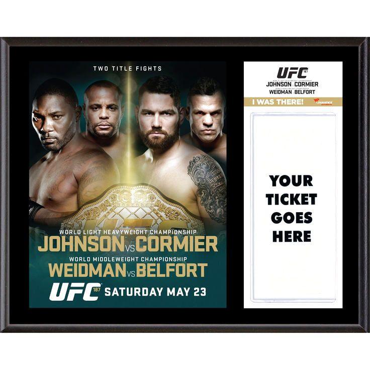 Fanatics Authentic UFC 187 Anthony Johnson vs. Daniel Cormier Dueling ''I Was There'' 12'' x 15'' Sublimated Plaque - $31.99