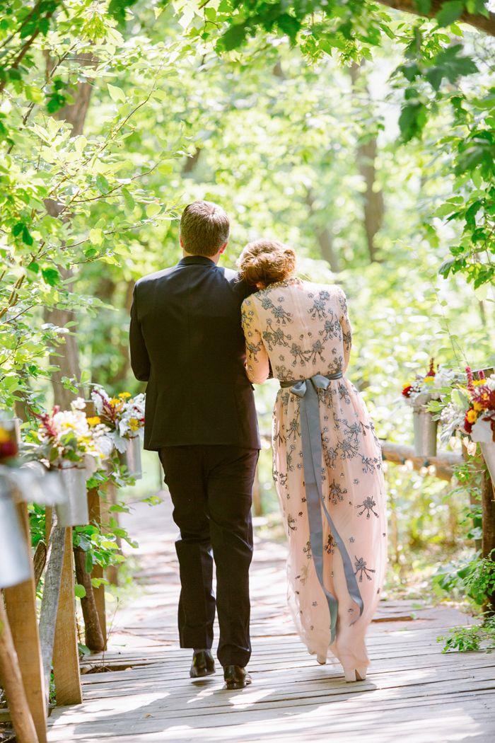 Melanie's Grey and Blush Wedding Gown