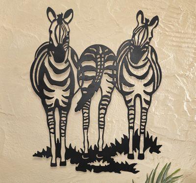 Zebra Safari Theme Wall Art