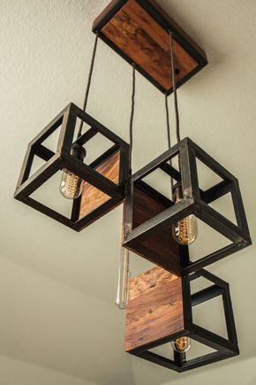 Inspiriert von der Idee eines vier box Design entstand diese Leuchte mit einer v…