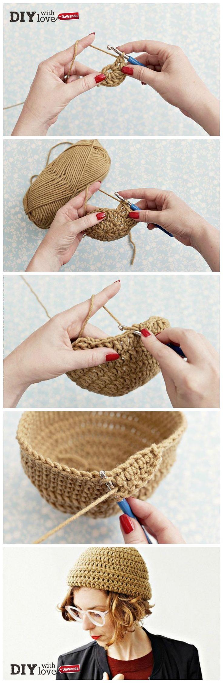 Uno zuccotto all'#uncinetto: il cappello perfetto per l'autunno o il regalino #handmade ideale per un'amica! Realizzalo con il nostro #tutorial