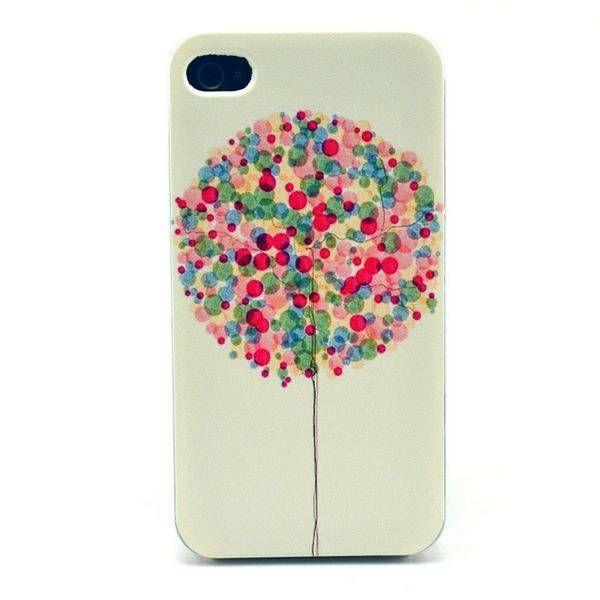 Kleurrijk boom design hardcase hoesje voor iPhone 4 / 4S