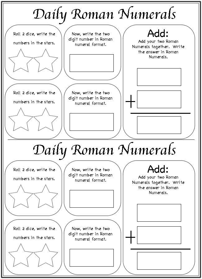 12 best Roman Numerals images on Pinterest | Homeschool ...