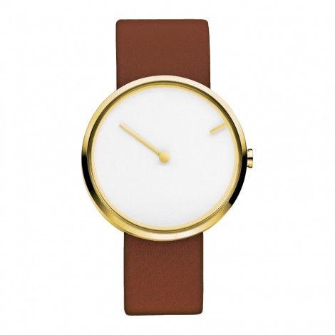 Koop dit Jacob Jensen Curve horloge 254 horloge online in onze webwinkel.                     Dit is een dames, heren, unisex horloge met een quartz uurwerk.                             De kleur van de kast is goud en de kleur van het uurwerk is wit.                             De kast is gemaakt van rvs en de band van het horloge van leer.                             Het uurwerk is analoog en er wordt gebruik gemaakt van mineraalglas.                                       Wij ...