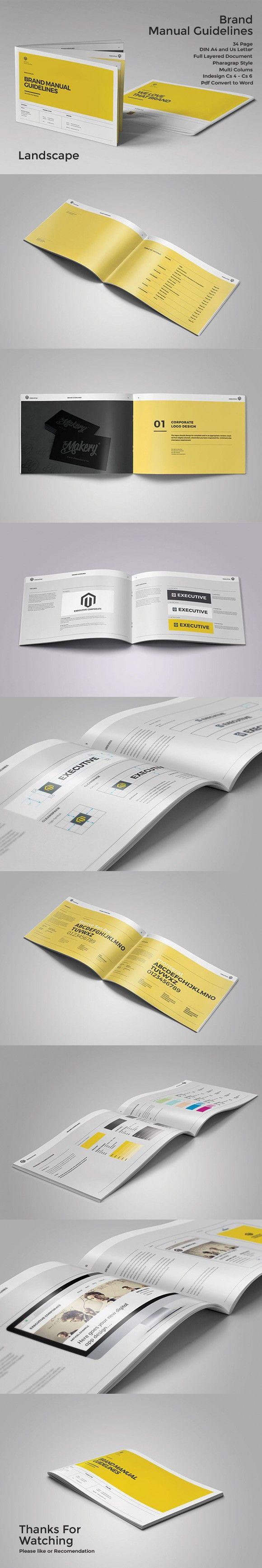 Mejores 17 imágenes de brandbook en Pinterest | Folletos, Plantilla ...
