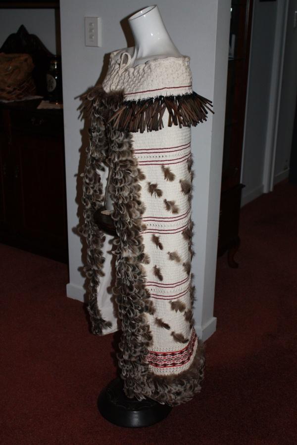 traditional maori korowai cloak