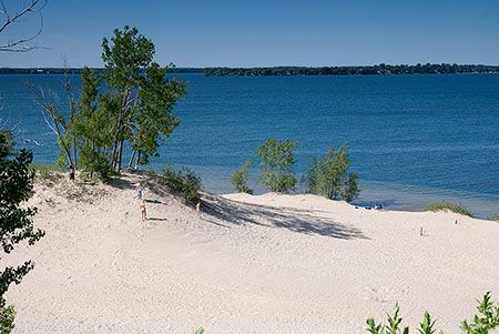 Caribbean beach?  Nope.  That's Sandbanks Provincial Park just a few hours east of Toronto on Lake Ontario!
