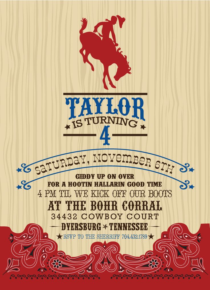 10 best invites images on pinterest | birthday party ideas, cowboy, Wedding invitations