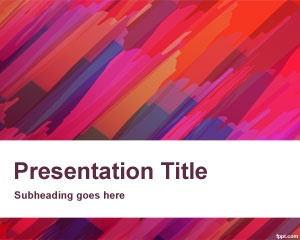 Red Canvas PowerPoint template is a free PPT template for art and artists who need a PowerPoint background design for their presentations