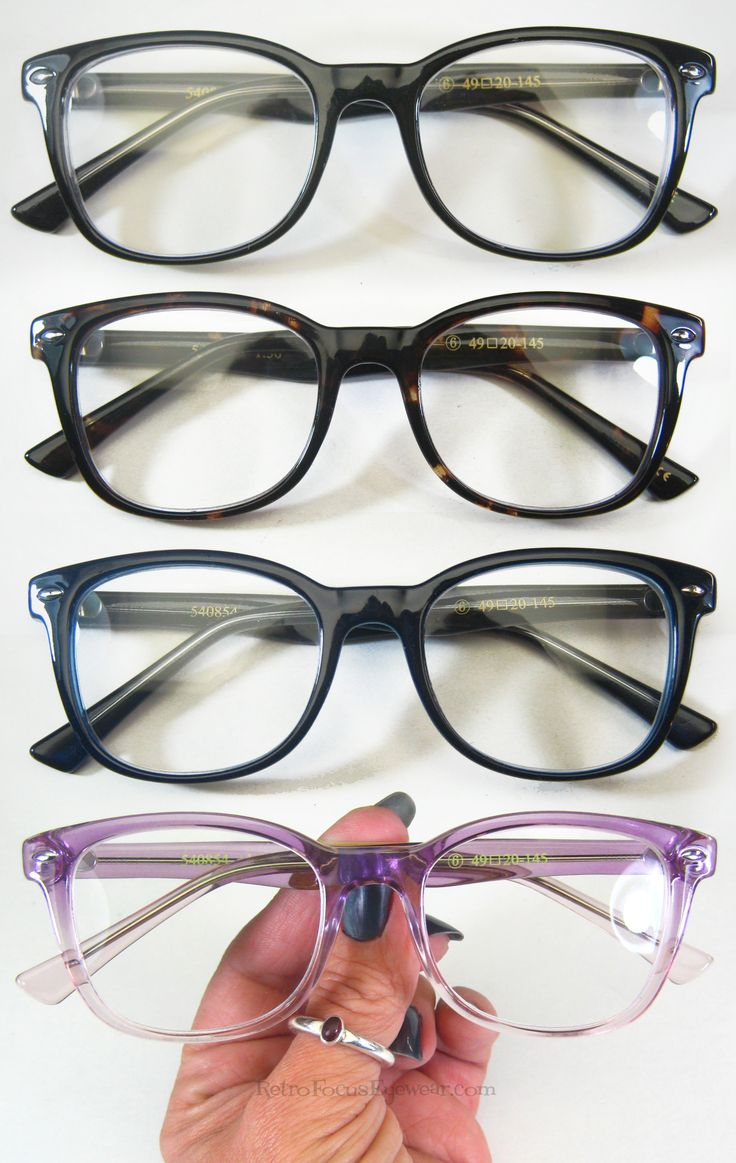 Nice unisex hipster reading glasses for those who love the 60's. These readers come in Tortoise, Black, Navy Blue and Lavender (light purple in some lighting)