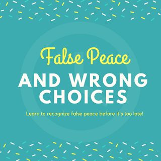 """So how do you know the difference from false peace and true peace. True peace comes from God. It's the peace Jesus spoke about, when he said """"Peace I leave with you, my peace I give unto you: not as the world gives, give I unto you. Let not your heart be troubled, neither let it be afraid."""" (John 14:27)"""