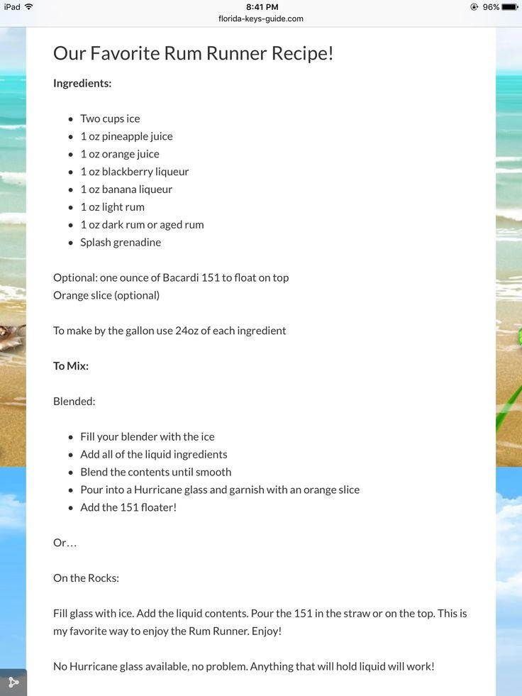 Original Rum Runner recipe