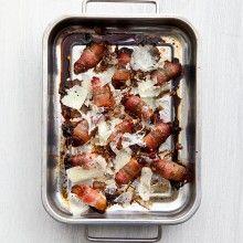 Bacondadlar med manchegoost och balsamvinäger
