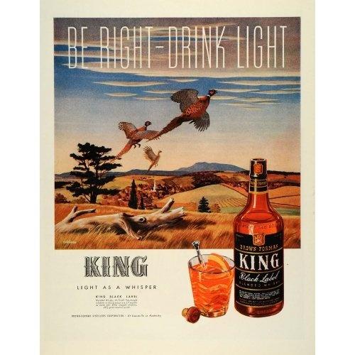 Hunting Liquor J. Atherton - Original Print Ad: Home