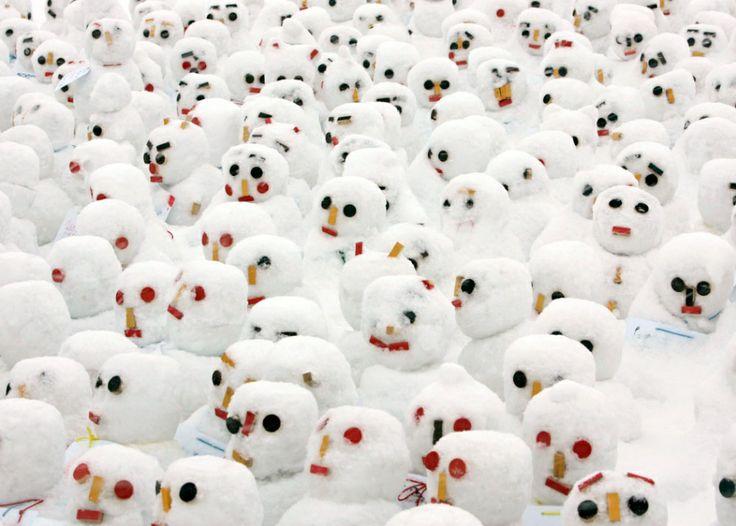 Une invasion de bonshommes de neige! ©Slate