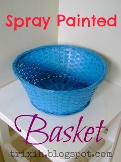Creative, Inspired & Organized: Spray Painted Basket