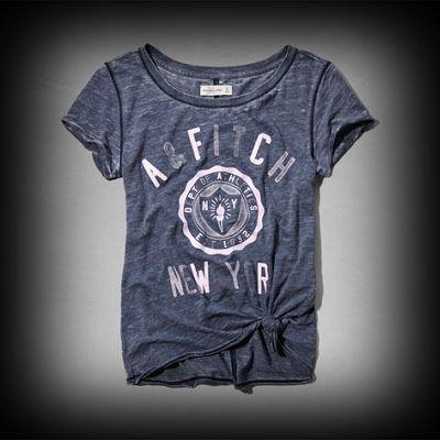 アバクロ レディース Tシャツ Abercrombie&Fitch Belle Tee Tシャツ ★カジュアルな雰囲気でいろんなコーデに合わせやすいアイテムです! ★ヴィンテージウォッシュがコーディネイトしやすくて個性的な古着っぽい味がでてお洒落。