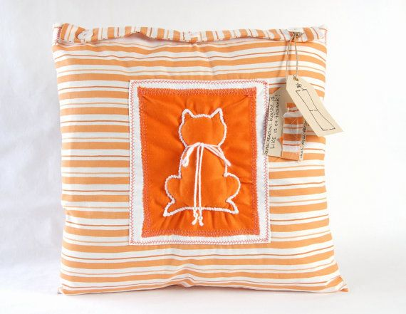 striped pillow cover pillow cover bedroom decor shabby chic pillow cover orange pillow cover fabric pillow cover country pillow
