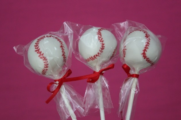 sister is making these for the special lil boys 2nd bday!!!!! they are amazing cake pops covered in white chocolate. yum