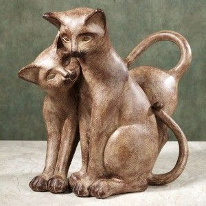 Resin Cat Sculpture