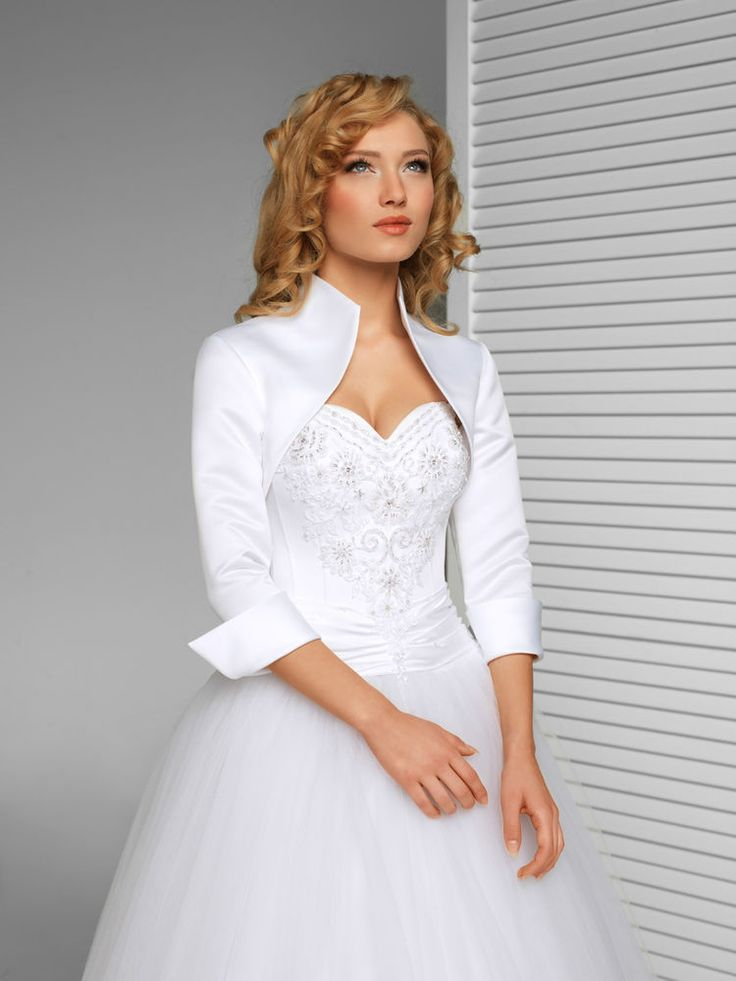 NEW WEDDING SATIN SHRUG BRIDAL BOLERO/JACKET/COAT (S-XXXL) -B13 in Jackets & Shawls | eBay