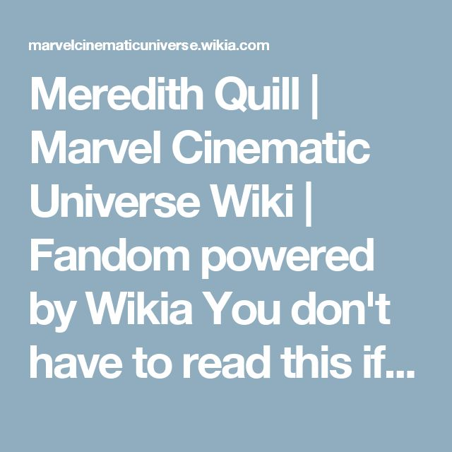 Meredith Quill | Marvel Cinematic Universe Wiki | Fandom powered by Wikia
