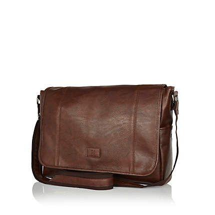 Dark brown messenger bag £25.00