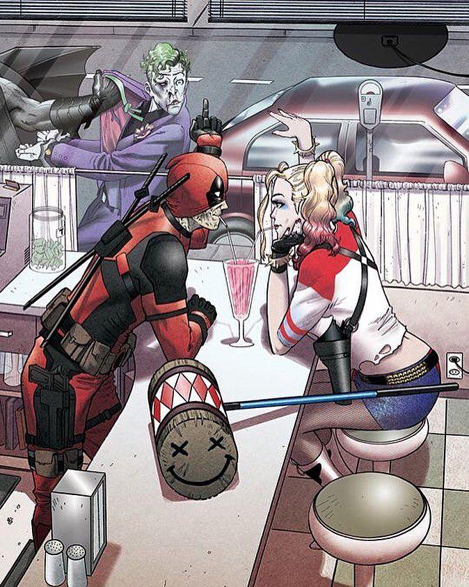 Deadpool: Boom I Got Your Girlfriend! Harley: By Pudding  Please advise the artist is you know who did this  Go read a comicbook!! Download at nomoremutants-com.tumblr.com   #marvelcomics #Comics #marvel #comicbooks #avengers #captainamericacivilwar #xmen #xmenapocalypse  #captainamerica #ironman #thor #hulk #ironfist #spiderman #inhumans #civilwar #lukecage #infinitygauntlet #Logan #batman #guardiansofthegalaxy #deadpool #wolverine #drstrange #infinitywar #thanos #gotg #joker #harleyquinn…