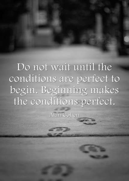 """Do not wait"" Quote by Alan Cohen, I really need to remind myself of this!"