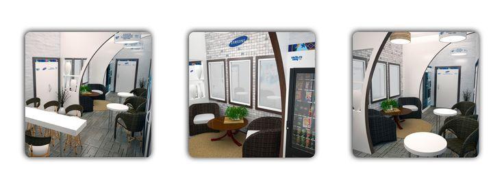Дизайн-проект офисов. Необычное решение для компании – официального дилера «SAMSUNG»