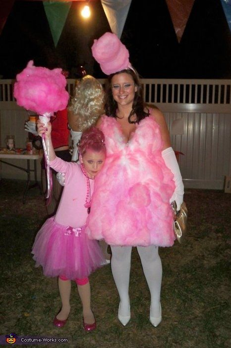 Homemade Cotton Candy Costume... I could make it better but cute idea