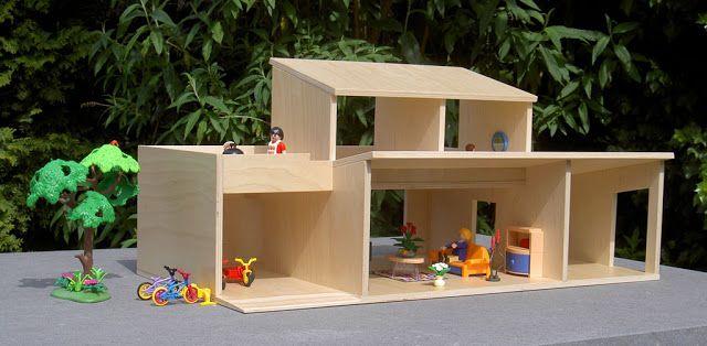 poppenhuis op playmobil schaal met gratis bouwtekening - BEELEN CS architecten
