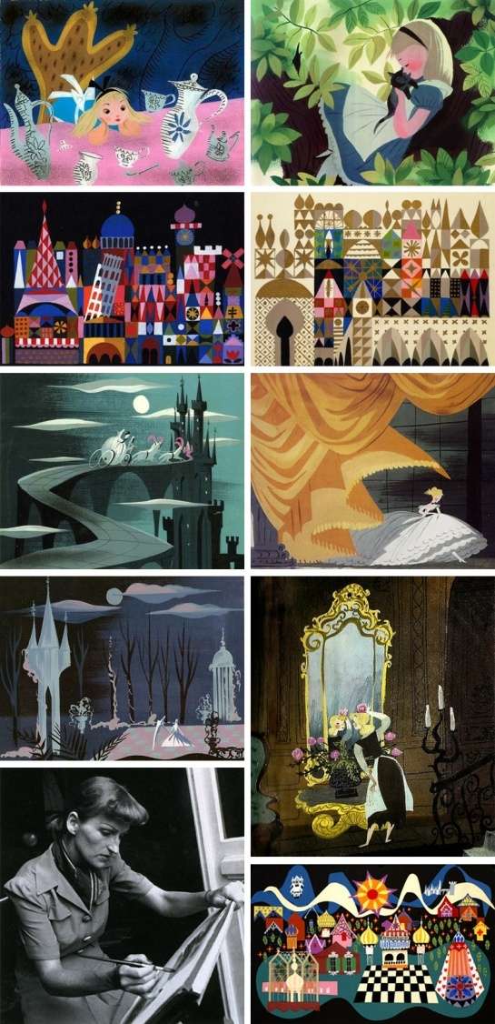 Mary Blair, born Mary Robinson, was an American artist who was prominent in producing art and animation for The Walt Disney Company, drawing concept art for such films as Alice in Wonderland, Peter Pan, Song of the South and Cinderella.