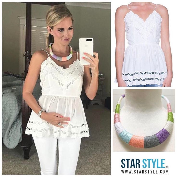 Cameran Eubanks wore a Willow Park top and necklace #cameraneubanks #cameranwimberly Shopping info at www.starstyle.com