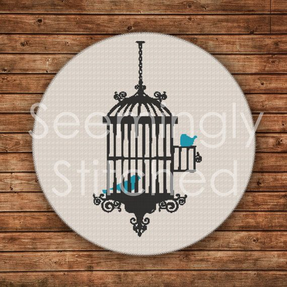 Cross Stitch Pattern - Birdcage
