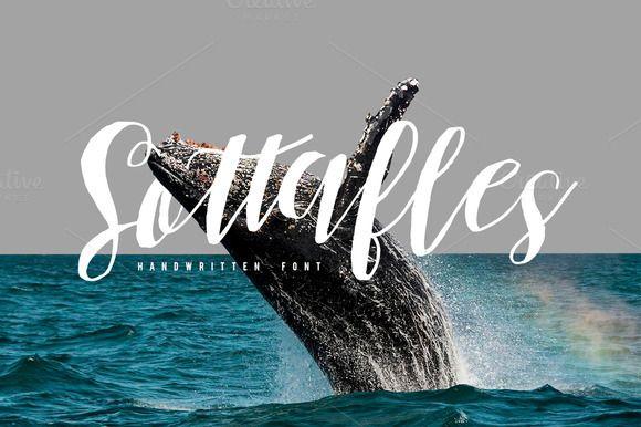 Sottafles Typeface + Swashes by Maulana Creative on @creativemarket
