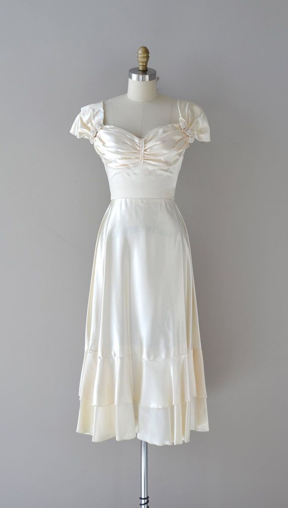 Etsy Transaction - 1940s wedding dress / vintage 40s dress / Darling Dear