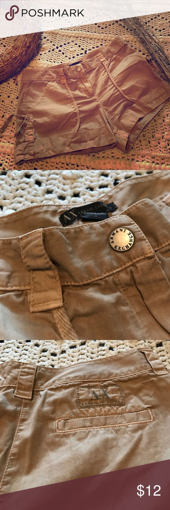 A/X Armani Exchange shorts A/X Armani Exchange shorts. In excellent used condition. Size:2. Has 2 front pockets and 1 at the back. Inquiry prior to purchase is a must. Thank you! Armani Exchange Shorts Cargos