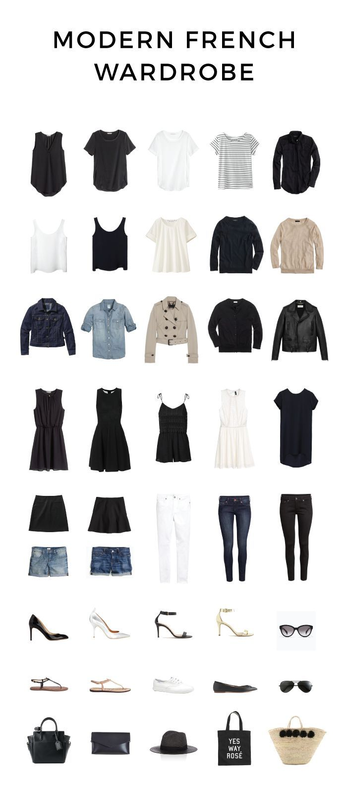 Modern French Wardrobe for Spring and Summer | http://modernfrenchblog.com