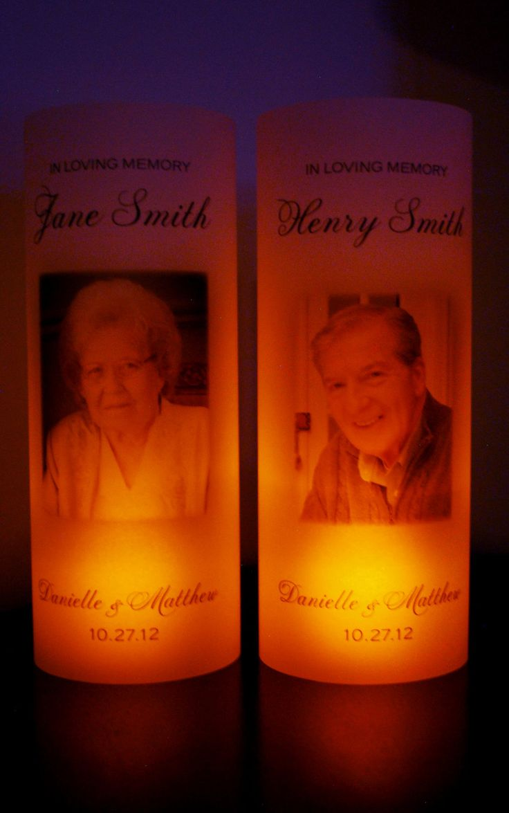 In Loving Memory Candle Wedding Vellum Luminary with Picture. $3.50, via Etsy.